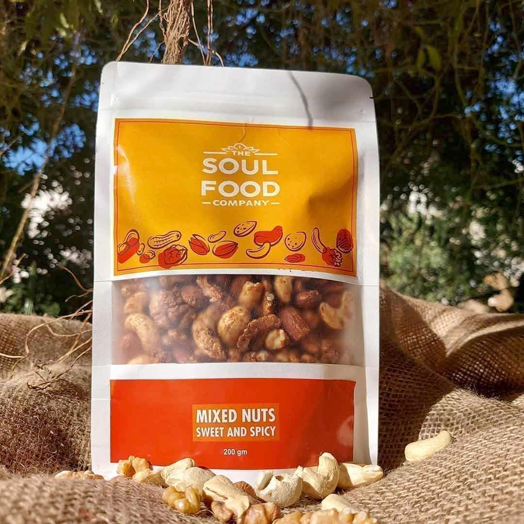 Mixed Nuts Sweet & Spicy Flavor